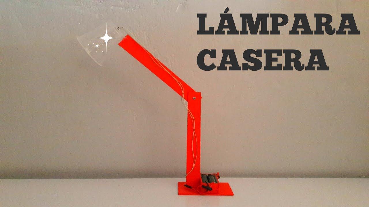 C mo hacer una l mpara de escritorio casera youtube - Como hacer una lampara de mesa casera ...