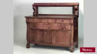 Antique American Mission Golden Oak Sideboard With Mirrored