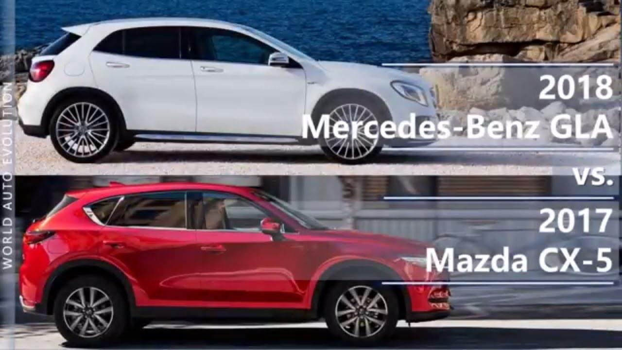 2018 mercedes-benz gla vs 2017 mazda cx-5 (technical comparison