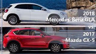 2018 mercedes-benz gla vs 2017 mazda cx-5 (technical comparison)