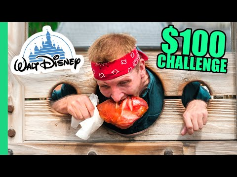 $100 Disney World Street Food Challenge!!! Most EXPENSIVE Food on Earth!!