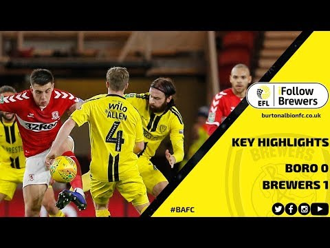 CARABAO CUP HIGHLIGHTS | Middlesbrough 0-1 Burton Albion