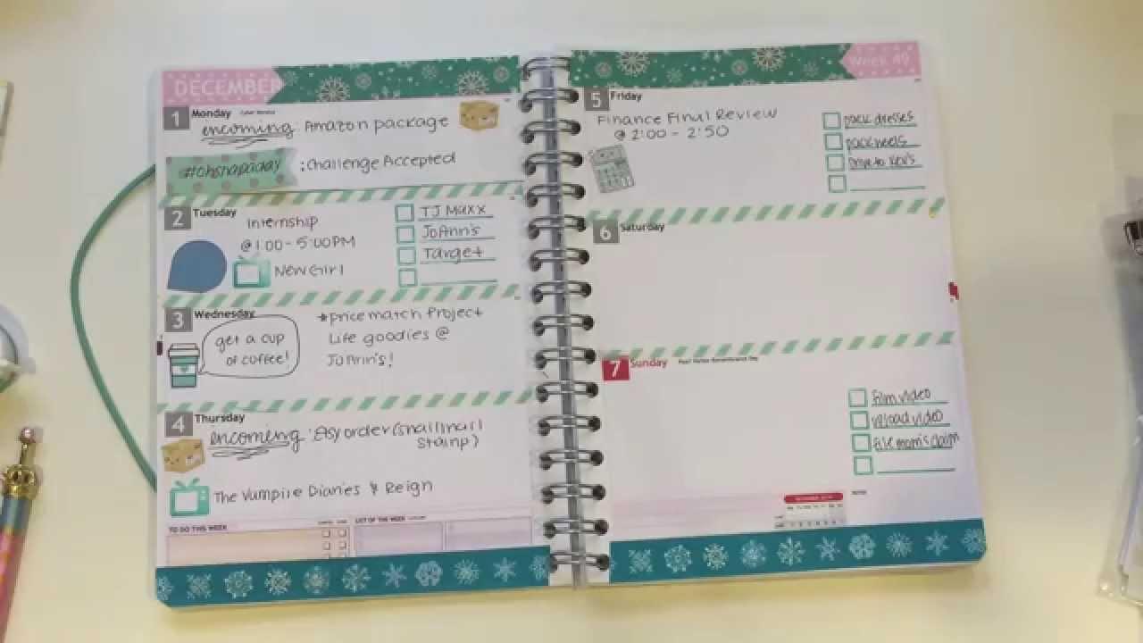 personal planner week 49 deco tutorial youtube