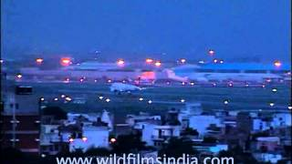 Night landing at IGI Airport, Delhi