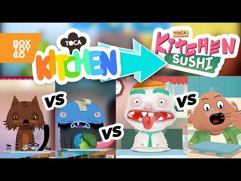 The Evolution of Toca Kitchen Series! Toca Kitchen 1/2 vs Monsters vs Sushi