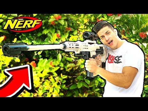 NERF WAR : BIGGEST NERF SNIPER! (Nerf Gun Game Battle)