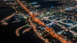 Jazzy Christmas Night | Citylights of Glyfada | Night flight with Mavic 2 Pro