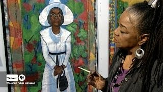 """Faith Ringgold describes her quilt series """"Coming to Jones Road."""" """"..."""