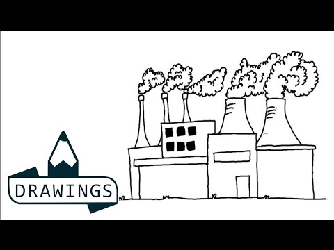 Speed drawing : How to draw a Factory