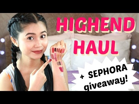 Highend Haul + SEPHORA GIVEAWAY | Anna Cay ♥
