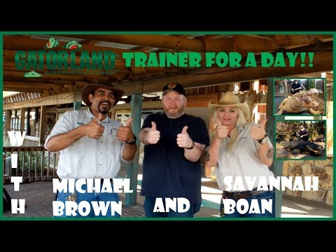 Gatorland Trainer For A Day with Savannah Boan and Michael Brown