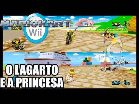 Mario Kart Wii - O LAGARTO E A PRINCESA - Dolphin 1080p