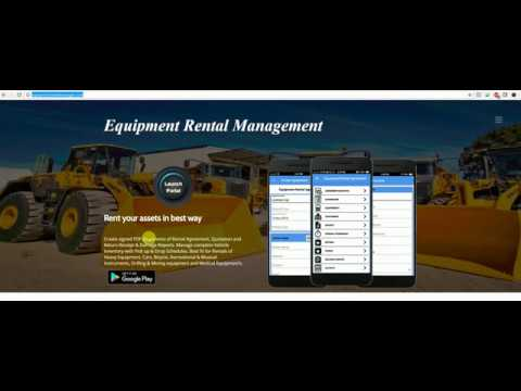 Equipment Rental Management - Web Portal Overview