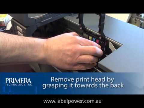 Primera LX900 - How To Change The Printhead By Label Power