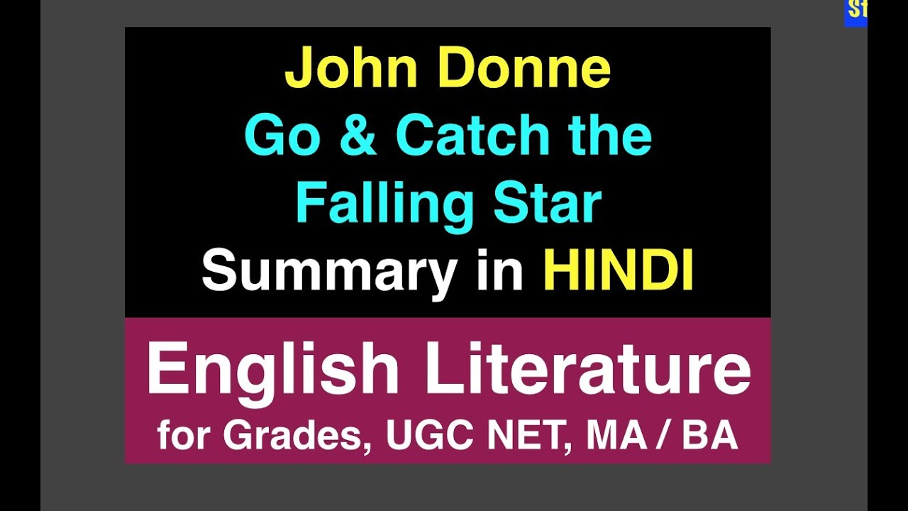 go and catch a falling star by donne critical appreciation
