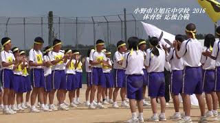 平成28年度 小野市立旭丘中学校  応援合戦 [赤・黄・青]