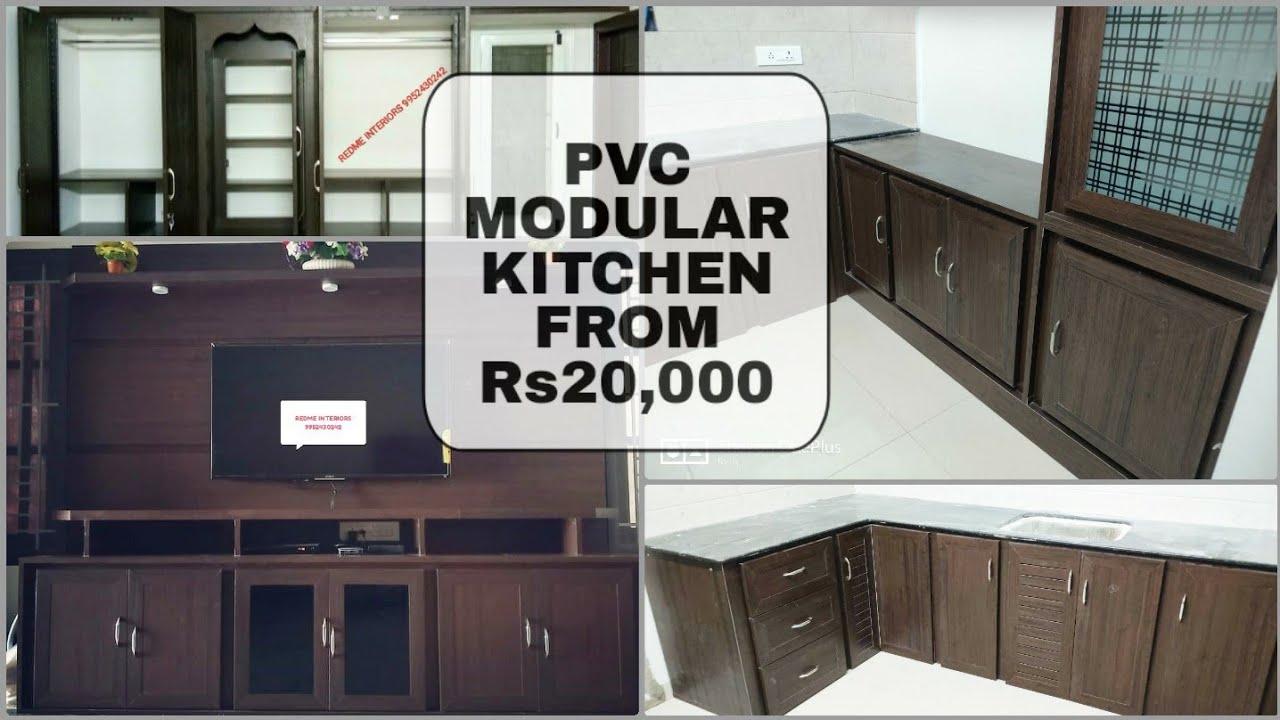 Low Cost Pvc Modular Kitchen Cupboards Wardrobe Full Home Tour Pvc Interior Designs Interior Youtube