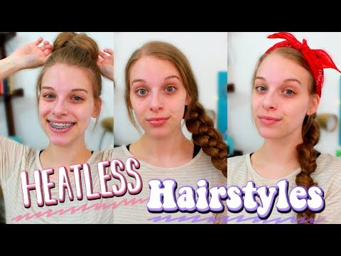 My Easy Heatless Hairstyles