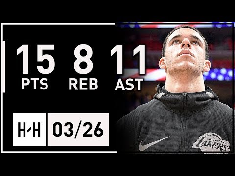 Lonzo Ball Full Highlights Lakers vs Pistons 2018.03.26  15 Pts, 8 Reb, 11 Assists!