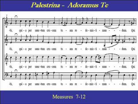 Palestrina  Adoramus Te  Scorewmv