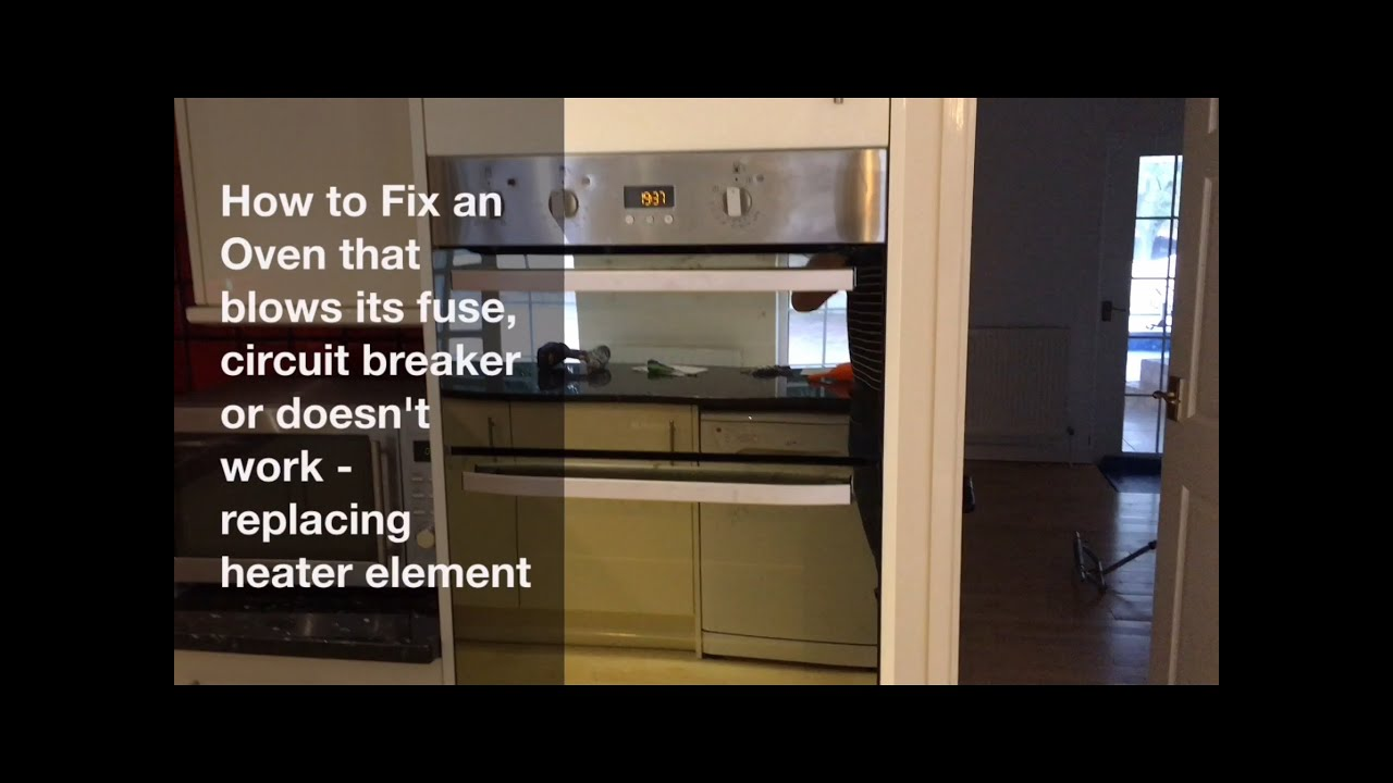 How To Fix Oven How To Fix A Fan Oven Heater Element Replacement Hotpoint Fan