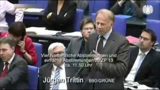 Jürgen Trittin mit der besten Kurzintervention aller Zeiten (+ Antwort)