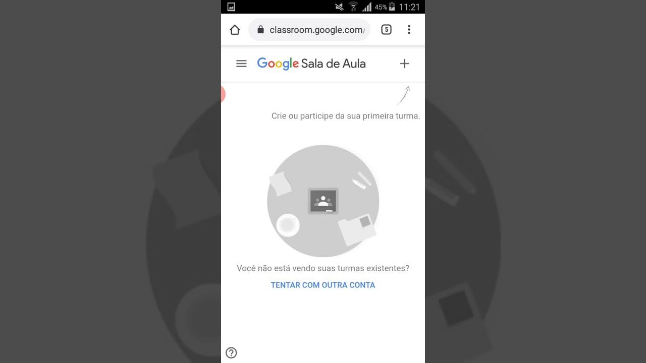Usando Outra Conta No Google Classroom