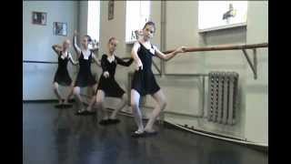 A fragment of the lesson Ballet in the studio
