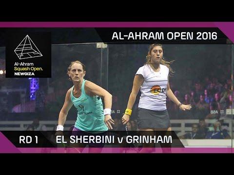 Squash: El Sherbini v Grinham - Al-Ahram Open 2016 - RD 1 Highlights