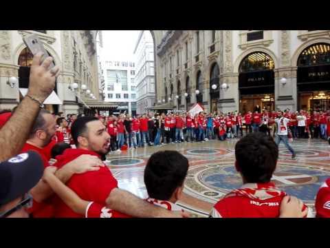 Ultras Hapoel Beer Sheva in Milan - 15.09.16 (HD)