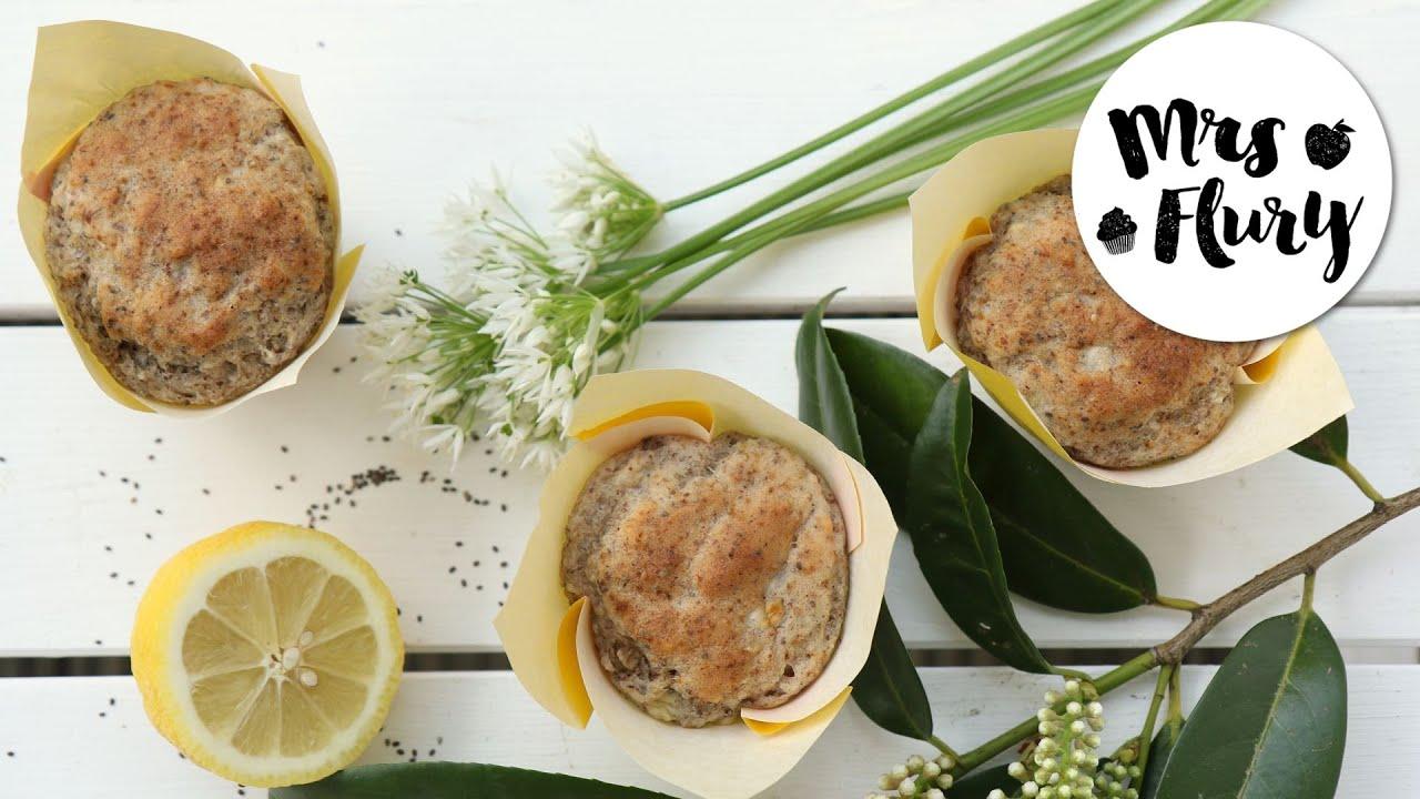 Gesunde Vegane Zitronen Chia Muffins Ohne Zucker Vegan Backen Mit