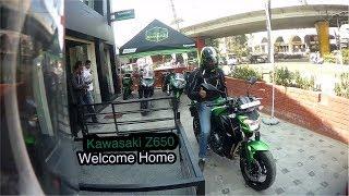 Taking delivery of 2018 Kawasaki Z650 @ Rideventure - Bangalore