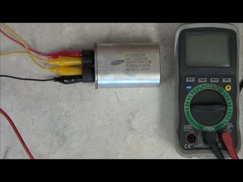 How to test the Microwave Oven's HV Capacitor  YouTube