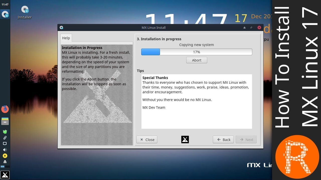 How to install MX Linux 17