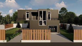 Casa modulara din containere #1 - Regim de inaltime Parter si etaj