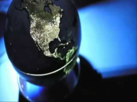 """City Lights 10"""" Globe - Rotates & Shows the City Lights of the World"""
