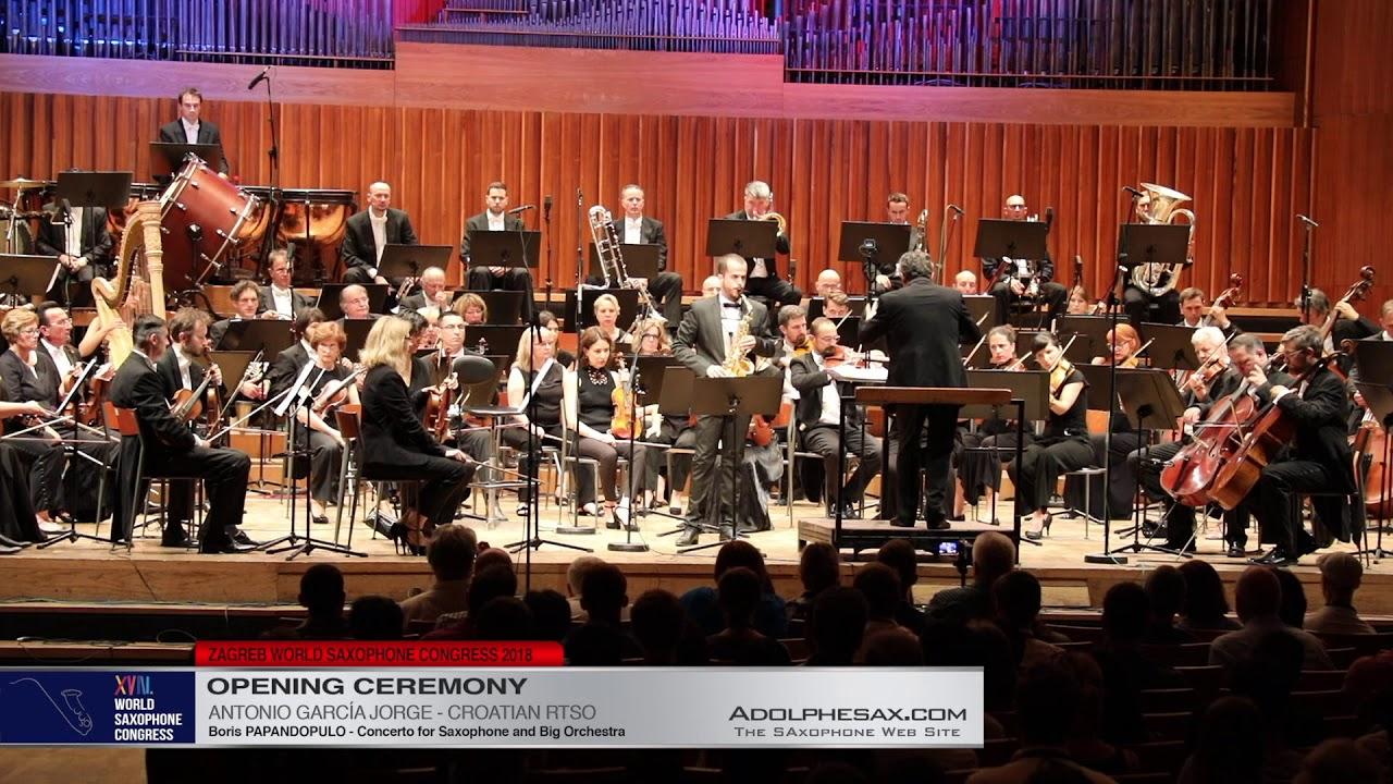 Concerto by Boris Papandopulo    Antonio Garcia Jorge   XVIII World Sax Congress 2018 #adolphesax