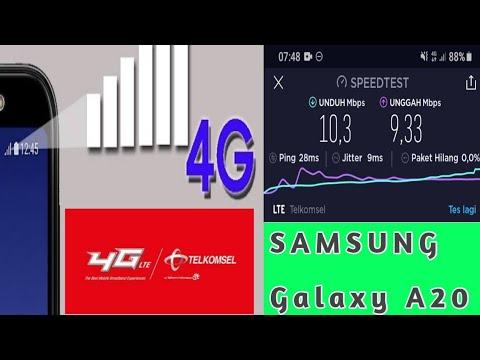 Cara Menampilkan Kecepatan Internet Samsung A20 Youtube