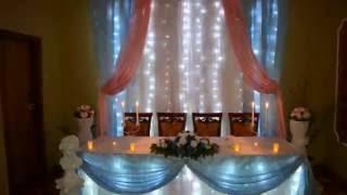 видео оформление зала на свадьбу Киев