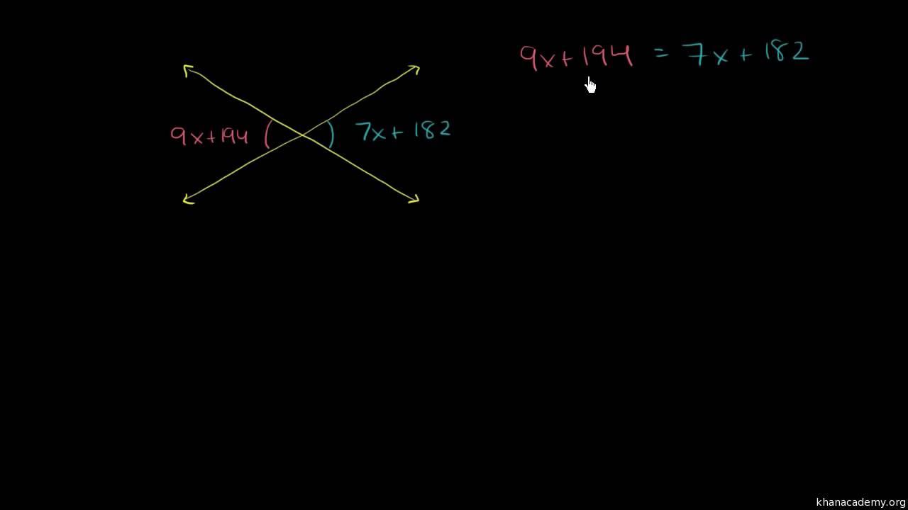 Brug af algebra til at finde topvinklers størrelse