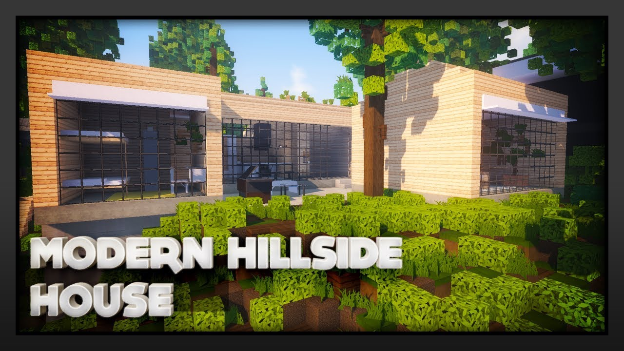 Minecraft Modern Hillside House You