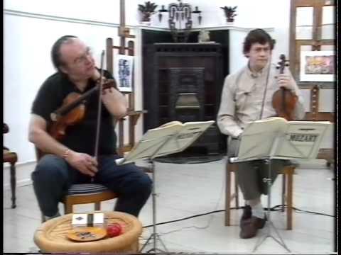 Morten Zeuthen portrait (1994) performing with The Kontra Quartet and NHØP