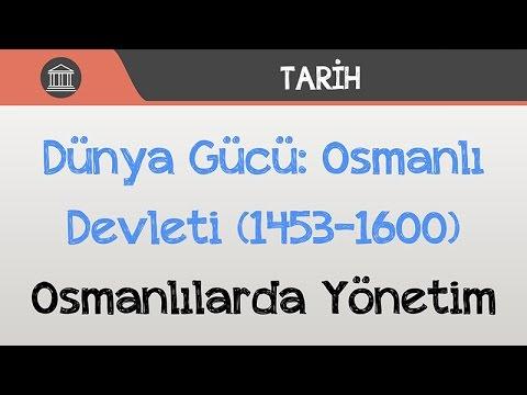 dünya gücü  osmanlı devleti  14531600   osmanlılarda yönetim