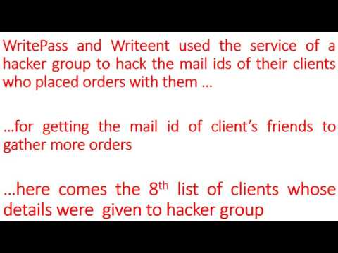 CHEATING OF CLIENTS BY WRITEPASS   List 8