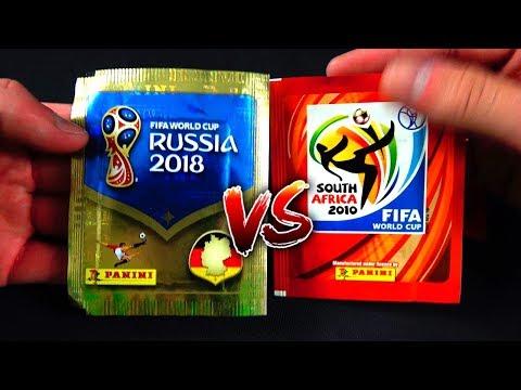 PANINI WM 2018 vs WM 2010 UNBOXING BATTLE 😱🔥