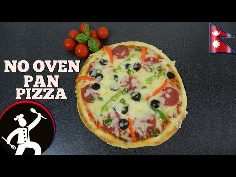 How to make Pan Pizza | Pizza without Oven | EASY PIZZA RECIPE