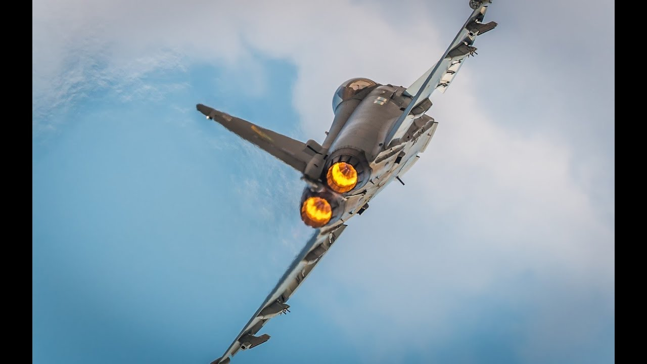 Eurofighter Typhoon 2018 Full Speed Takeoff with afterburner