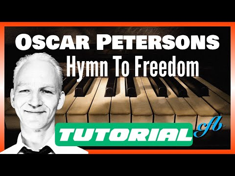 How to play HYMN TO FREEDOM (Oscar Peterson) on piano. Great for Beginners!