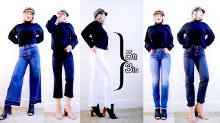 Different Style Jeans On My Petite Frame | Milabu