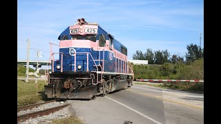 [HD] Railfanning On The Florida East Coast Railway With Locals And Mainline Fright Trains